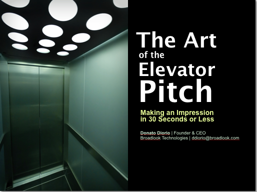 The art of the elevator pitch business law in plain for 30 second pitch template