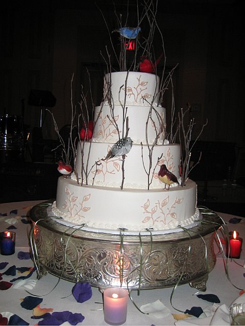 Our Bird Wedding Cake